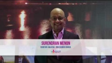 Vibrant Goa 2019 – Surendran Menon, Secretary, Malaysia – Indian Business council