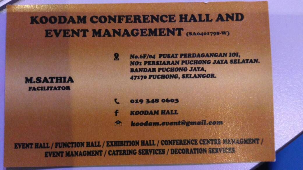 Koodam Hall & Event Management