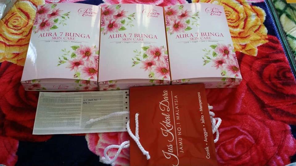Aura 7 Flower Skincare Rm110 one set
